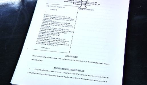 Lawsuit filed by President Dobelle's legal team