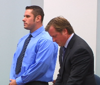 Joseph Baldya (L) and his attorney Raipher Pellegrino (R)