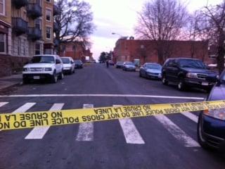 A school bus was caught in the cross fire on Elm Street in Holyoke.