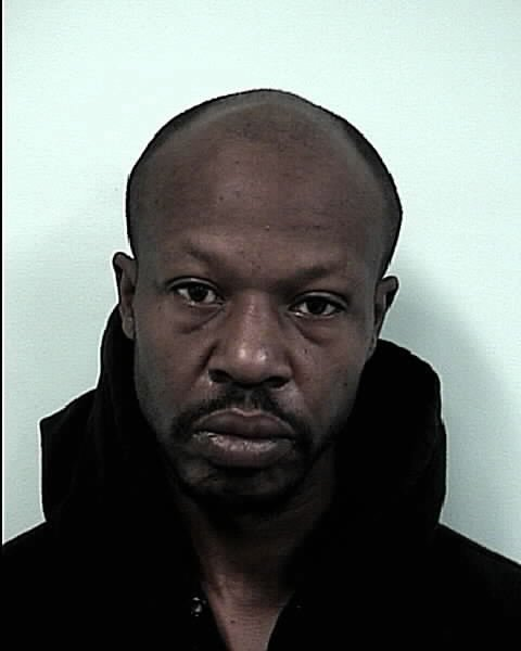 Timothy Moss, 39, was charged with shoplifting and trespassing.