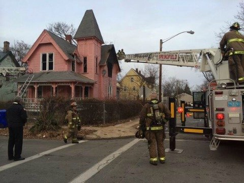 Springfield fire officials said a fire broke out in a second floor bedroom of a Bowles St. home around 5 p.m.