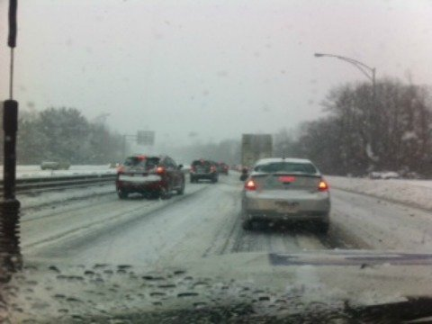 Traffic was at a dead stop on Interstate 291.