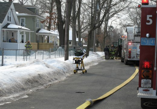 A fire occurred at 91 Ambrose St. Wednesday morning.