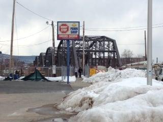 The Willimansett Bridge between Chicopee and Holyoke.