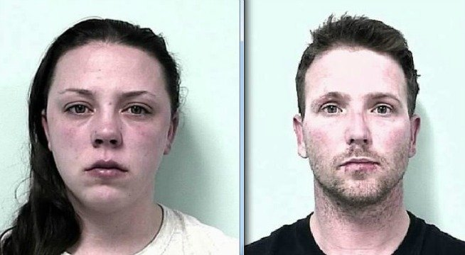 Mug shots of Jacqueline Perez and Michael Kurtzhalts.