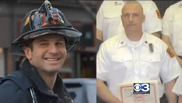 Boston Firefighter Michael Kennedy (left) and Boston Fire Lieutenant Edward Walsh.