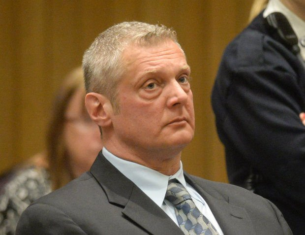 Suspended Ludlow Police Lt. Thomas Foye, 49, was arraigned on drug charges in Hampden Superior Court Tuesday morning. (MassLive / The Republican).