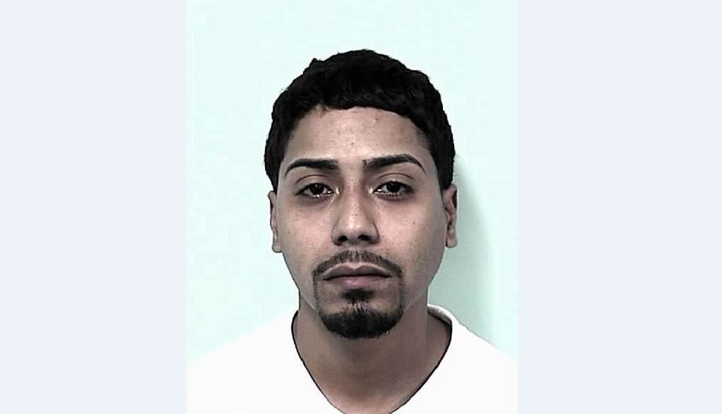 Mug shot of 26-year-old Oscar Caballero, of 36 Cabot St., Holyoke.