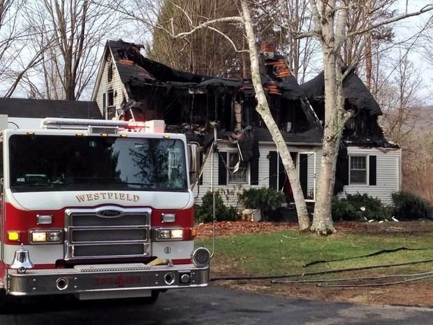The house at 918 Granville Rd. in Westfield after firefighters extinguished the blaze. (The Republican).
