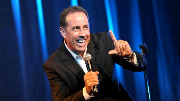 Jerry Seinfeld performs his stand-up comedy act.