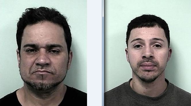 Mug shots of Victor Sanchez, 47, of 50 Montmorenci St. (left) and Javier Serrano, 29, of 128 Newfield St.