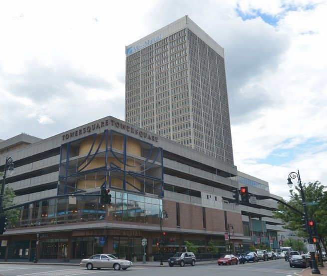 Tower Square in downtown Springfield is where the new UMass Center will be. (MassLive).