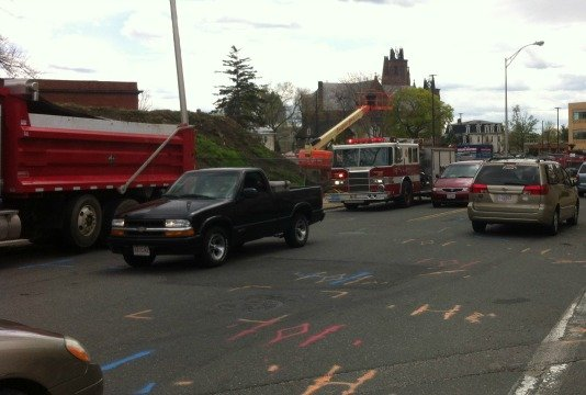 Firefighters responded to Carew Street around 12:30 p.m. for reports of a gas leak.