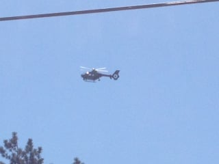 A state police helicopter from the department's Air Wing assisted in the search.