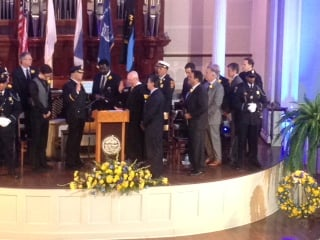 Springfield Police Commissioner John Barbieri was officially sworn in at City Hall Thursday morning.