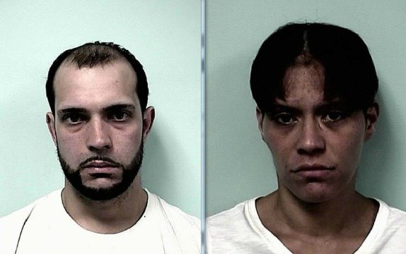 Mug shots of Victor Ramos, 27, of 155 Quaker Rd., Springfield, (left) and Shanike Roldon, 28, of 16 Rutledge Ave., Springfield.