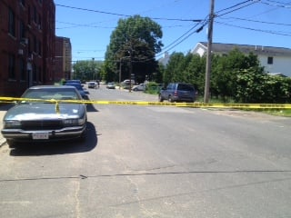 Police investigated a stabbing that occurred at the corner of Central and Mosher streets Monday afternoon.