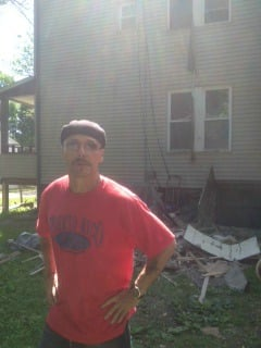 A resident of the Osgood Street home that caught fire Friday.