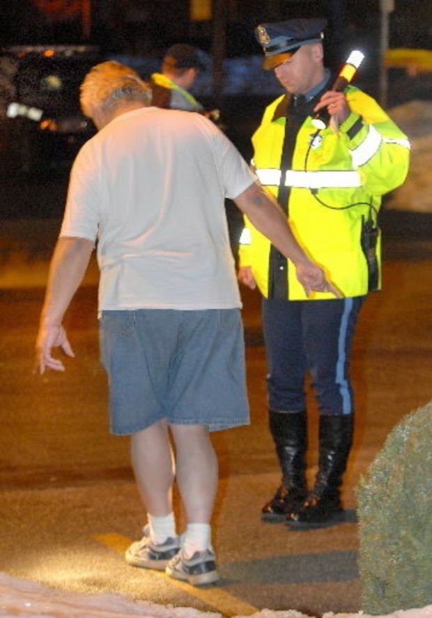State police conduct a field sobriety test. (MassLive)