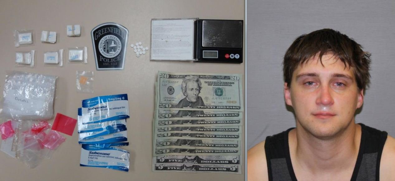 Mug shot of Phillip Johnson, 26, of 84 Bayberry Ct., and the drugs he was allegedly caught with.