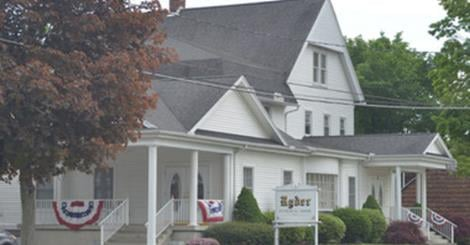Ryder Funeral Home in South Hadley.