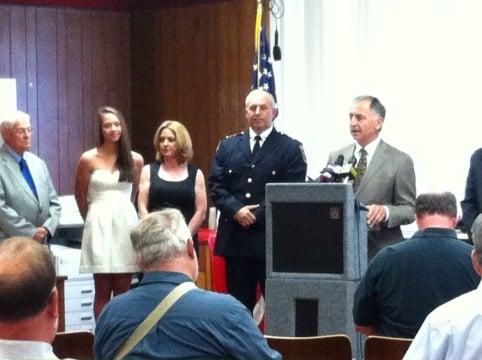 Capt. William Jebb was sworn in Thursday afternoon.