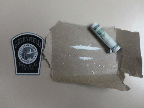 The cocaine Greenfield police found inside the car the suspects were found in.