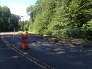 The scene where the Ford crashed on Robbins Road in Chicopee.