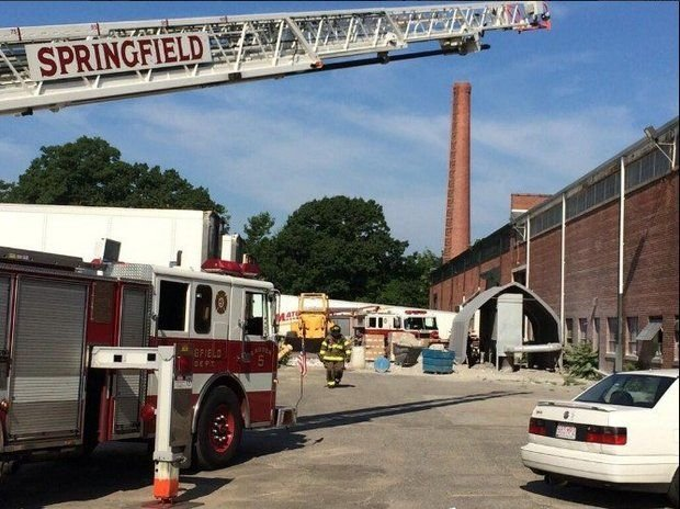 Springfield firefighters extinguished a blaze inside Northstar Pulp & Paper on Guion Street this morning.