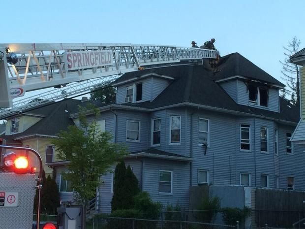 Springfield firefighters extinguished a blaze at 80 Massachusetts Ave. Saturday night.