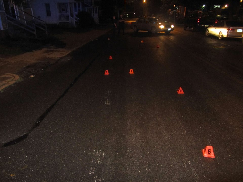 Eight .22 caliber shell casings were recovered by police on Worthington Street. (Springfield PD)
