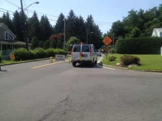 The gas leak occurred near Elm Street in East Longmeadow.