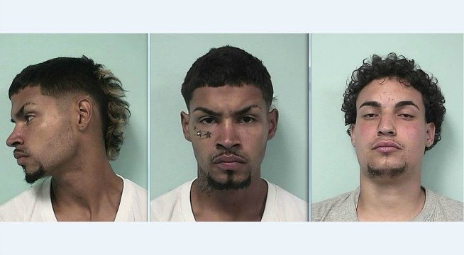 Mug shots of Joel E. Fernandez (left / center) and Juan A. Ortiz. (Springfield Police Department)