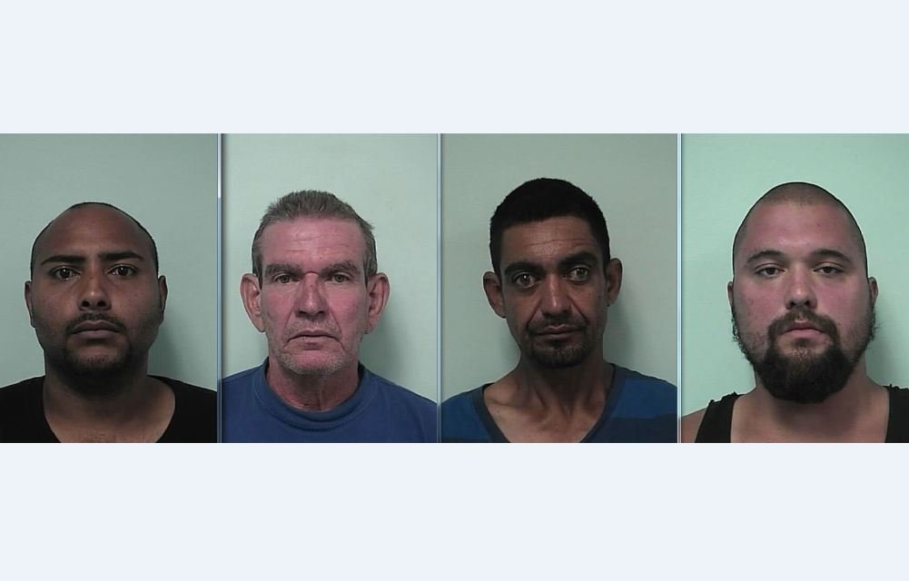 Mug shots of (left to right) Jesus Ramos, Miguel Toledo, Jose Sepulveda and Matthew Young. (Springfield Police Department)