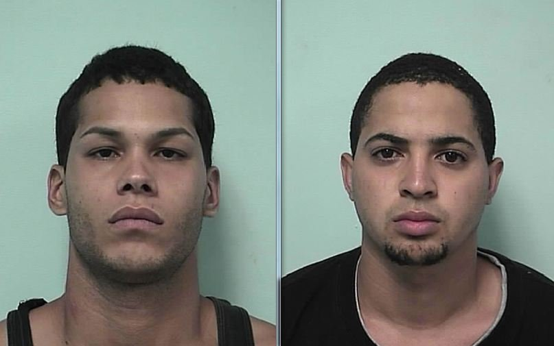 Mug shots of (left) Kevin Oyola-Sanchez, 26 & Carlos Pesquera, 20, both of 244 Centre St. (Springfield Police Department)