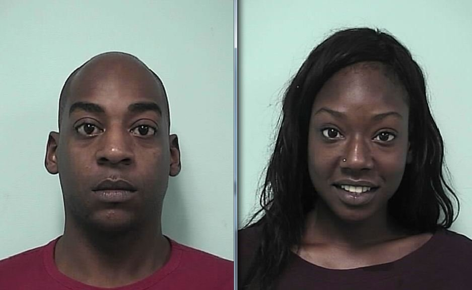 Mug shots of Willie Hall, 26, and Shalynn N. Davey, 19. (Springfield Police Department)