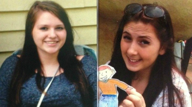 Chicopee police were looking for Jenna Johnson, 13, and Maggie Gesek, 15, according to Officer Michael Wilk.