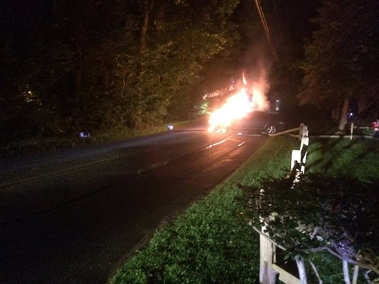 The accident occurred on Lee Road in Deerfield about 1:30 a.m. Friday.