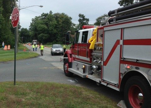 A gas leak was reported on Dwight Road in Longmeadow about noontime Thursday.