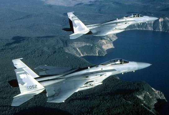 A pair of F-15 C Eagles (U.S. Air Force)
