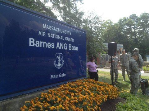 A press conference was held at Barnes Air National Guard Base in Westfield, MA at 2 p.m. Wednesday.