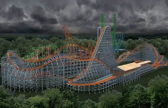 The Wicked Cyclone will be a hybrid steel, wooden rollercoaster that will be built where the old Cyclone was located. (Six Flags)