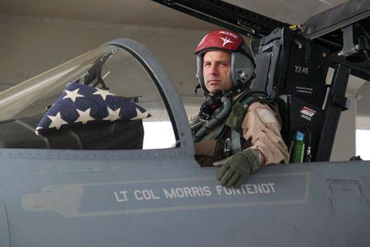 Lt. Col. Morris 'Moose' Fontenot Jr. in an F-15. (104th Fighter Wing)