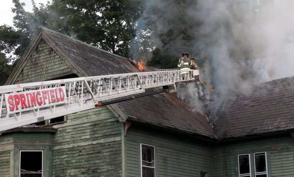 Springfield firefighters responded to 92 Mill St. Thursday to extinguish a fire at a vacant home (Springfield FD)