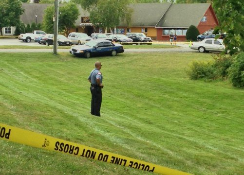 Police are investigating after a body was found near the corner of University Drive and Amity Street in Amherst.