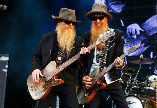 ZZ Top's bassist Dusty Hill (left) and guitarist Billy Gibbons (ZZ Top)