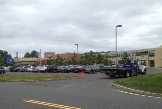 There was a large police presence at Ludlow High School Thursday.