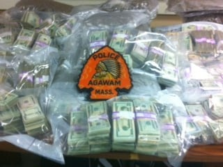 More than $1 million in US currency was seized in Agawam.