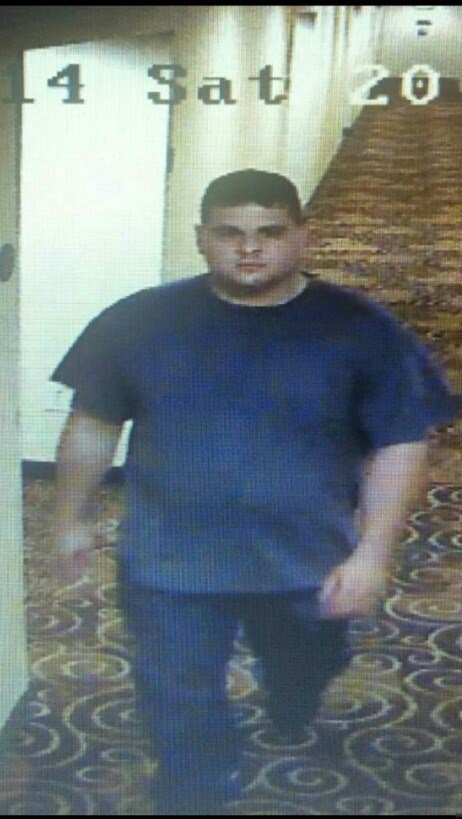 State police released this image of Gregory Lewis in an Indianapolis hotel. (MSP)