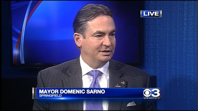 Springfield Mayor Domenic Sarno announced his bid for reelection on CBS 3 Springfield's News at 4 on Thursday.